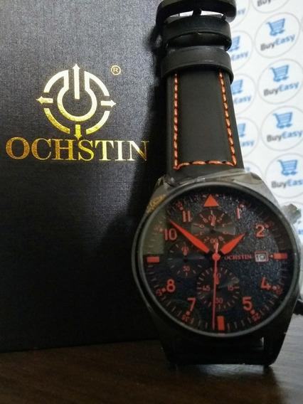 Relógio Masculino Cronógrafo Ochstin Original De Couro