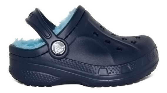 Crocs Com Forro Kids Winter Clog Original Frete Gratis Navy
