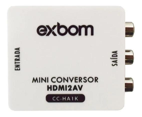 Mini Conversor Hdmi Para Av Rca Com Áudio 1080p Full Hd