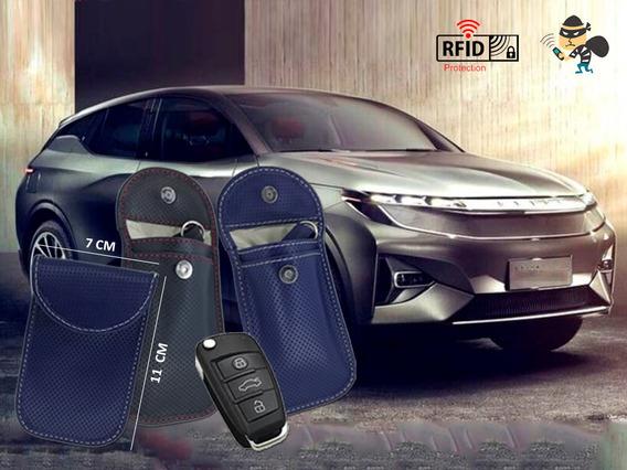 Llavero Rfid Para Auto De Cuero Anti Escaneo Smartkey