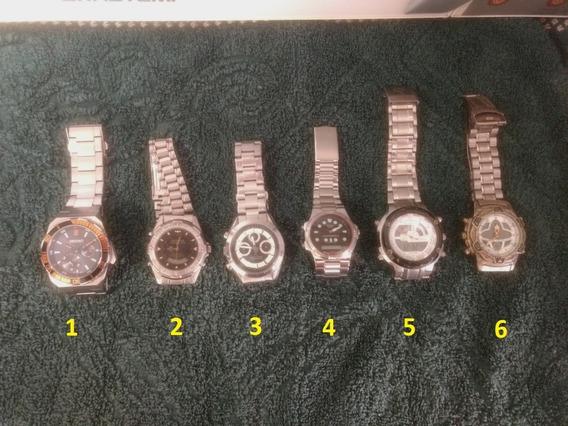 Relógios Diversos - 06 Unidades - Ótimo Negócio.