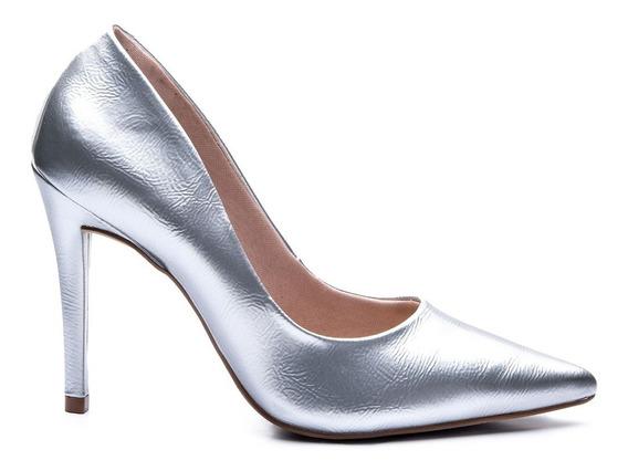 Sapato Feminino Scarpin Salto Fino Clássico Verniz Lasenna