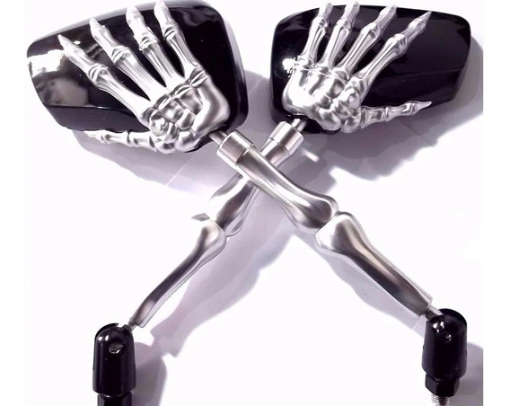Retrovisor Skull Caveira Garra Intruder Kansa Shadow Custom
