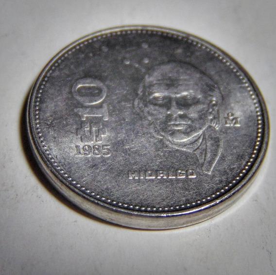 Moneda De 10 Pesos Mexicanos De 1985 Miguel Hidalgo