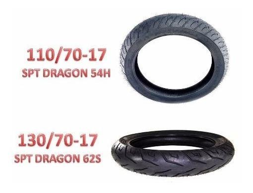 Pneu Pirelli 130/70-17 E 110/70-17 Sport Dragon (par)