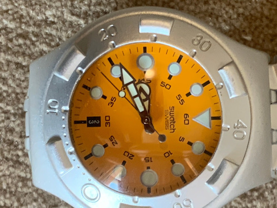 Relogio Swatch. Todo En Aluminio, Anos 90, Sem Uso.como Novo