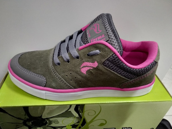 Tenis Skate Ferma Feminino B3308 Grafite/rosa