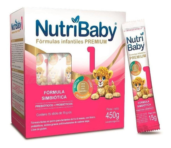 Leche de fórmula en polvo Ethical Pharma NutriBaby 1 por 15 unidades de 15g