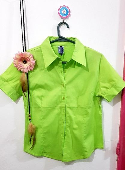 Camisa Basica Verde Fluor