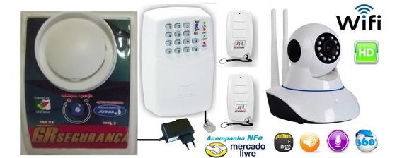 Cuidador Idoso C/ Discadora Telefone Fixo + Câmera Hd Wi Fi