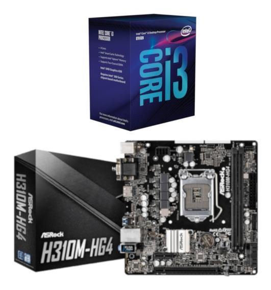 Kit Processador Intel I3 8100 + Placa Asrock H310m Hg4
