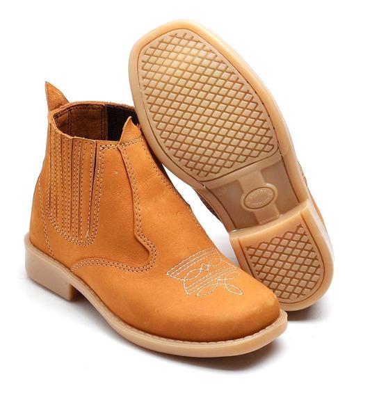 Bota Botina Country Sapato Bebe Infantil Couro Frete Gratis