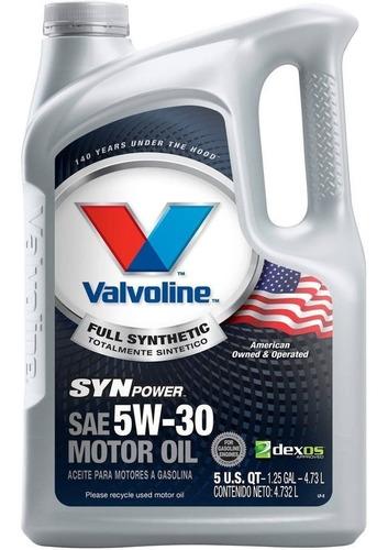 Aceite 5w30 Sintetico 4.73 Litros Synpower Valvoline