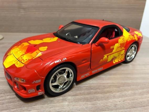 Miniatura Velozes Furiosos Mazda Rx7 1:18