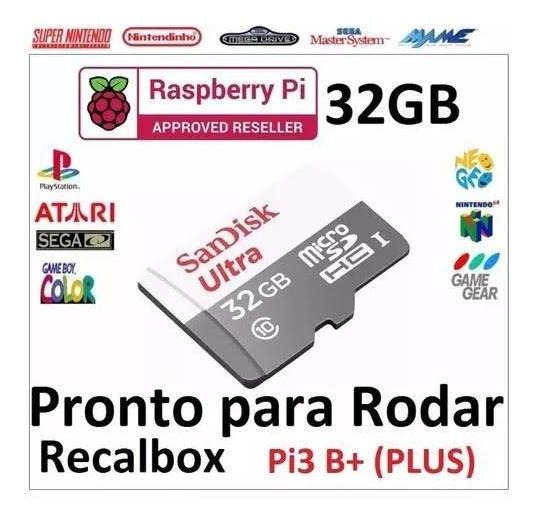 Micro Sd 32gb Com Sistema Recalbox