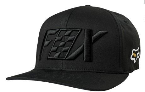 Gorra Czar Flexfit Cam Negra Logo Fox Original Juri Atv