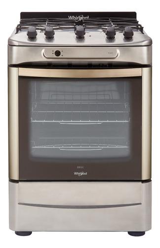 Cocina Whirlpool WF360XG gas natural 4 hornallas  inox 220V puerta  con visor 71.1L