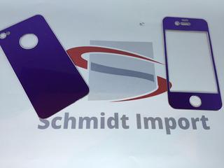 Capa Adesiva Frente E Verso Skin De Alumínio iPhone 4 / 4s