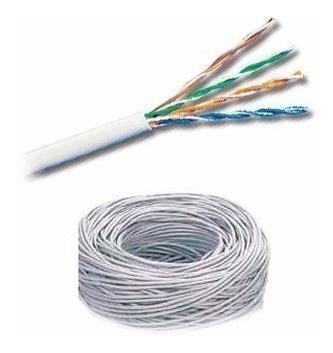 Bobina De Cable Utp 5e Solido 75% Cobre Color Blanco 100 Mts
