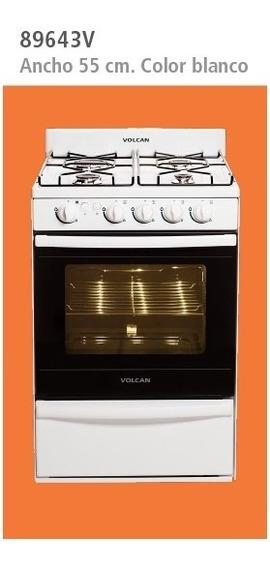 Cocina Volcan 89643v 55 Cm Blanca Luz Y Encendido