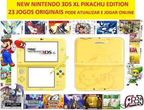 New 3ds Xl + 23 Jogos Originais + 32gb Pokemon, Mario, Zelda