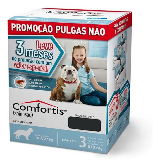 Combo Antipulgas Elanco Comfortis Para Cães 18 A 27kg 3 Comp