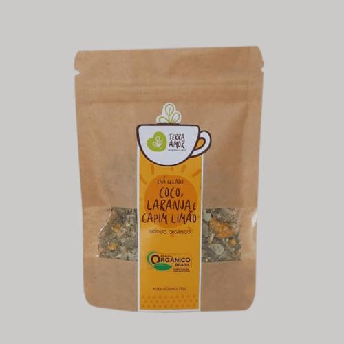 Chá Gelado Coco, Laranja E Limão Capim Orgânico 15g