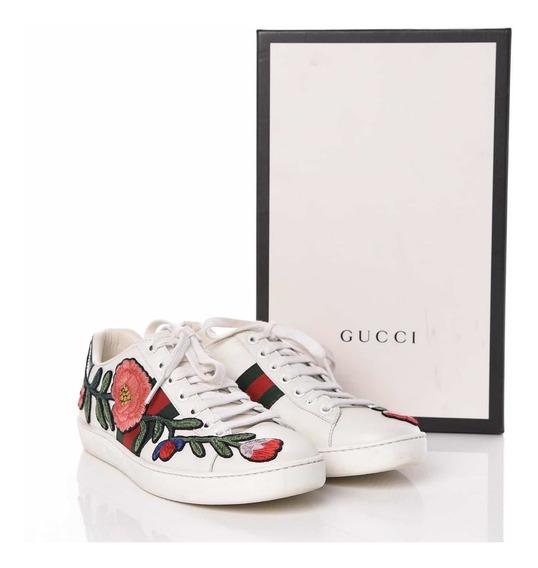 Tenis Gucci Ace Sneaker Flores