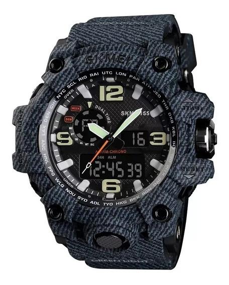 Relógio Skmei Original Modelo 1155 Denim Black Prova D