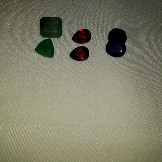 Lote 6 Pedras Preciosas Esmeraldas,safira D