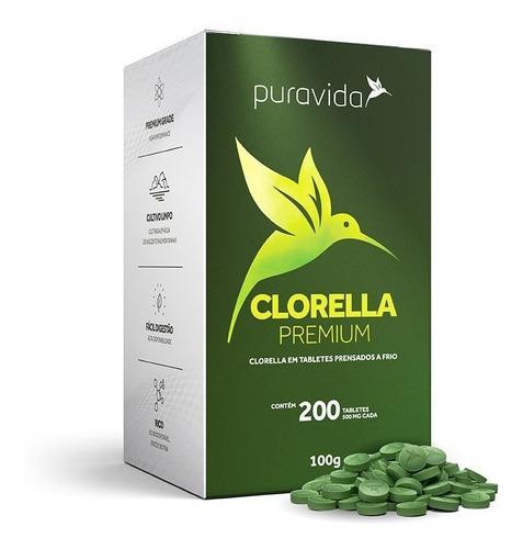 Clorella Premium 500mg 200 Tabletes - Pura Vida