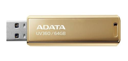 Imagem 1 de 3 de Pendrive 64gb Adata Uv360 Usb 3.2 Dourado Edição Limitada