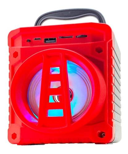 Caixa de som Grasep AL-301 portátil com bluetooth  vermelha