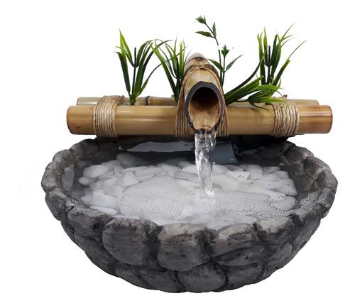 Fonte/agua/cascata/bambu Mini Imitando Pedra Bivolts B1