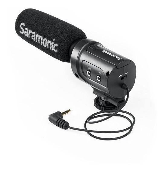 Saramonic Sr M3 Mic/ Direcional P/ Câmera Gravadores C/nf