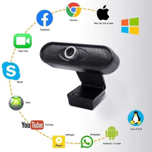 Webcam Hd 1080p Megap Usb, Cámara Web Con Micrófono Para Pc,