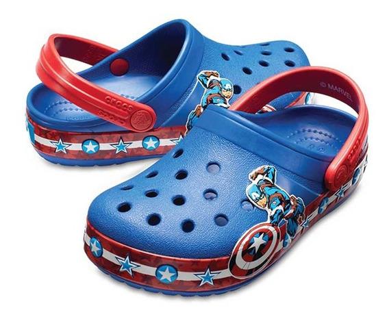 Crocs Crocband Sandalia Capitao Amercia Original