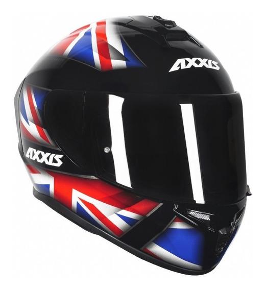 Capacete Para Moto Axxis Draken Uk By Mt Helmets + Nf