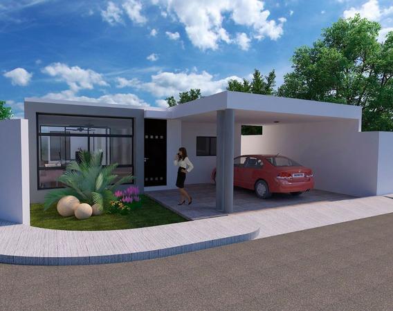 Casa De Un Piso En Privada Al Norte De Mérida