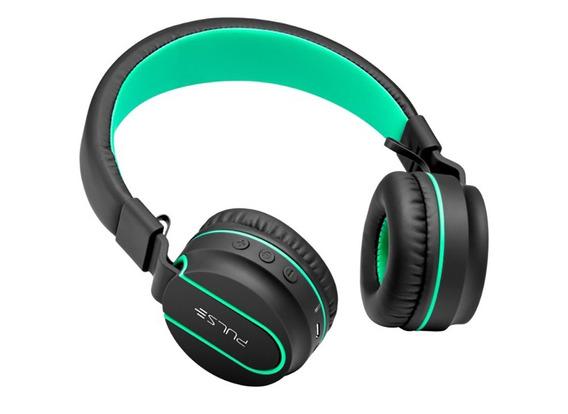 Headphone Bluetooth Pulse Fun Series Preto E Verde Ph215