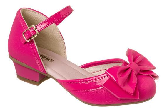 Sandália Feminina Infantil Salto Pink Dedinho Do Pé 79505