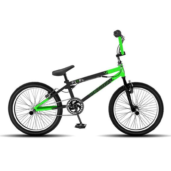 Bicicleta Niños Teknial Pixel Rodado 20 En Cuotas