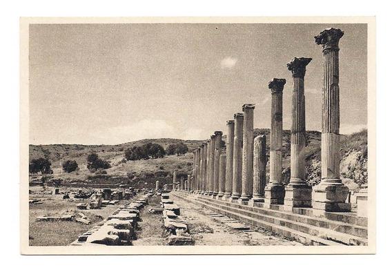 Antigua Postal El Aesculapium Bergama Pergamum Turquia 549