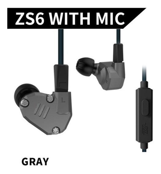 Fone In-ear Kz Zs6 - Retorno De Palco