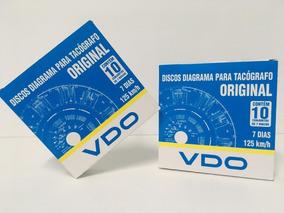 Disco De Tacografo Vdo Original 125km Semanal 7 Dias 30 Cx
