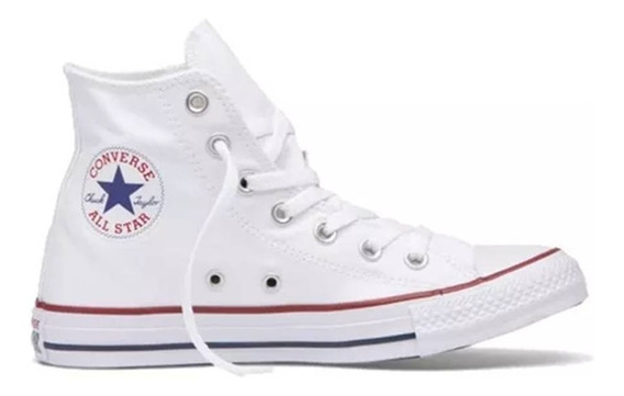 Zapatillas Converse All Star Hi Optical White Blanca Unisex