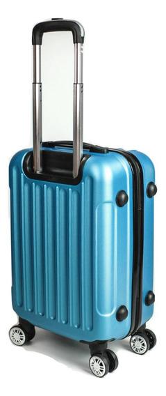 Mala De Viagem Em Abs Com Rodinhas 360° Cor Azul