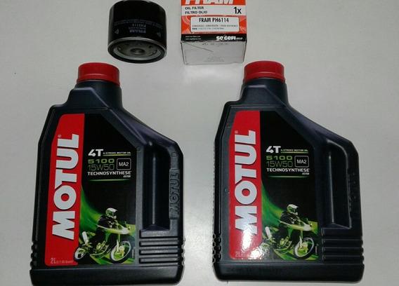 Kit Oleo Motul 5100 + Filtro Oleo Bmw Gs 1200 2010/13