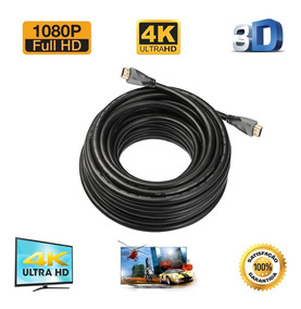 Kit Cabo Hdmi 4k 30 Metros + Chaveador Kvm Switch 4 Portas