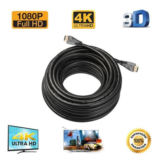 Kit Cabo Hdmi 4k 30 Metros + Chaveador Kvm Switch 4 Portas